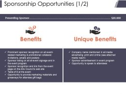 Sponsorship Opportunities Presentation Slides