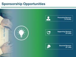 Sponsorship Opportunities Presentation Visuals
