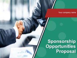 Sponsorship Opportunities Proposal Powerpoint Presentation Slide