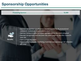 Sponsorship Opportunities Sample Of Ppt Presentation
