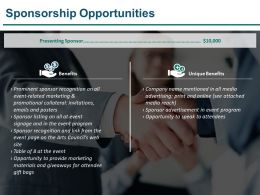 Sponsorship Opportunities Sample Ppt Files