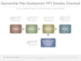 Sponsorship Plan Development Ppt Samples Download