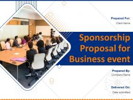 Sponsorship Proposal For Business Event Powerpoint Presentation Slides