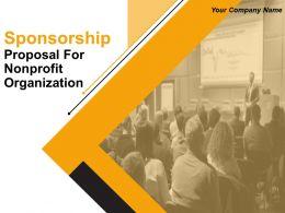 Sponsorship Proposal For Nonprofit Organization Powerpoint Presentation Slide