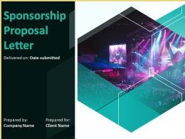 Sponsorship Proposal Letter Powerpoint Presentation Slides