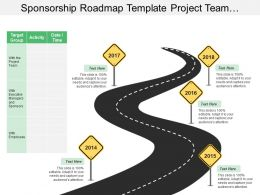 Sponsorship Roadmap Template Project Team Activity Date Time