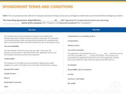 Sponsorship Terms And Conditions Ppt Powerpoint Presentation Infographics