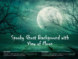 Spooky Ghost Background With View Of Moon