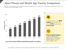Sport Fitness And Health App Used By Competitors Ppt Powerpoint Presentation File Example Introduction