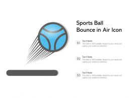 Sports Ball Bounce In Air Icon