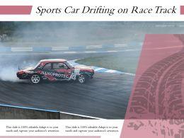 Sports Car Drifting On Race Track
