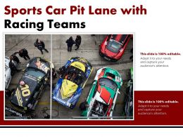 Sports Car Pit Lane With Racing Teams