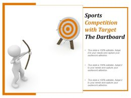 Sports Competition With Target The Dartboard