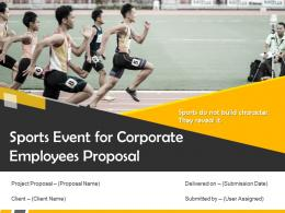 Sports Event For Corporate Employees Proposal Powerpoint Presentation Slides