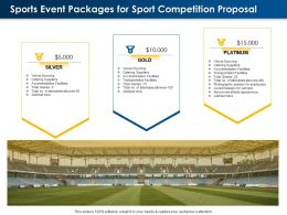 Sports Event Packages For Sport Competition Proposal Ppt Powerpoint Ideas Display