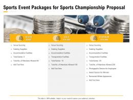Sports Event Packages For Sports Championship Proposal Ppt Powerpoint Presentation Styles Grid