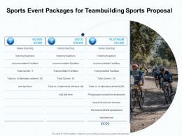 Sports Event Packages For Teambuilding Sports Proposal Ppt Layouts Outfit