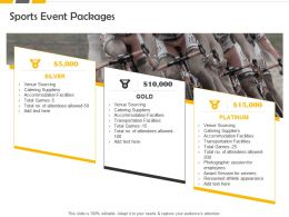 Sports Event Packages Ppt Powerpoint Presentation Layouts Portfolio