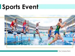 Sports Event Performing Panoramic Stadium International Swimmers