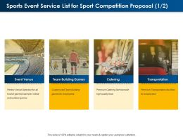 Sports Event Service List For Sport Competition Proposal L1594 Ppt Powerpoint Designs
