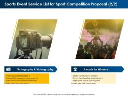Sports Event Service List For Sport Competition Proposal Ppt Powerpoint Presentation File
