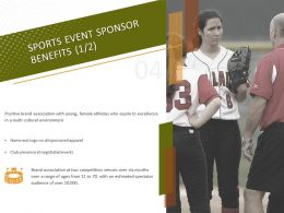 Sports Event Sponsor Benefits Excellence Ppt Powerpoint Presentation Visual