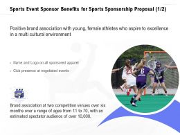 Sports Event Sponsor Benefits For Sports Sponsorship Proposal Brand Ppt Demonstration