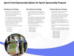 Sports Event Sponsorship Options For Sports Sponsorship Proposal Ppt Powerpoint Model