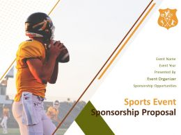 Sports Event Sponsorship Proposal Powerpoint Presentation Slides