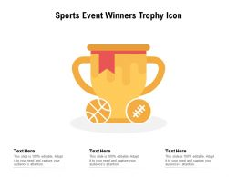 Sports Event Winners Trophy Icon