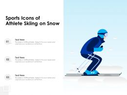 Sports Icons Of Athlete Skiing On Snow