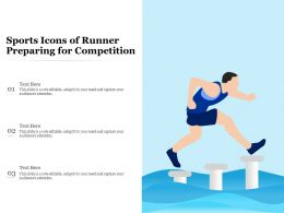 Sports Icons Of Runner Preparing For Competition