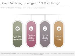Sports Marketing Strategies Ppt Slide Design