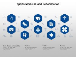 Sports Medicine And Rehabilitation Ppt Powerpoint Presentation Summary Outfit
