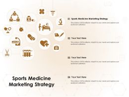 Sports Medicine Marketing Strategy Ppt Powerpoint Presentation Professional Vector