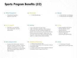 Sports Program Benefits Ppt Powerpoint Presentation Slide Download