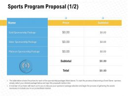 Sports Program Proposal Ppt Powerpoint Presentation Background Images