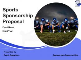 Sports Sponsorship Proposal Powerpoint Presentation Slides
