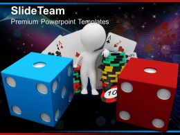 Sports Strategy Games Powerpoint Templates Blue And Red Dice Ppt Process