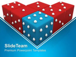Sports Strategy Games Powerpoint Templates Blue Dice Winning Image Ppt Design