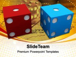 Sports Strategy Games Powerpoint Templates Blue Red Dice Marketing Ppt Theme