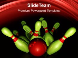 Sports Strategy Games Powerpoint Templates Bowling Business Ppt Slides