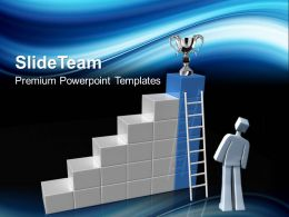 Sports Strategy Powerpoint Templates Looking For Trophy Success Ppt Designs