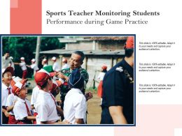 Sports Teacher Monitoring Students Performance During Game Practice