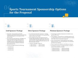 Sports Tournament Sponsorship Options For The Proposal Ppt Powerpoint Guide