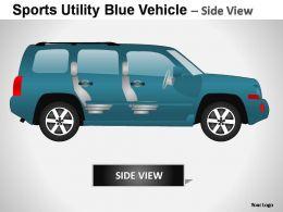 sports_utility_blue_vehicle_side_view_powerpoint_presentation_slides_Slide02