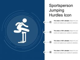 Sportsperson Jumping Hurdles Icon