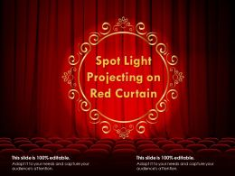 Spot Light Projecting On Red Curtain
