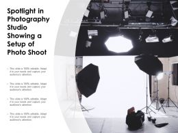 Spotlight In Photography Studio Showing A Setup Of Photo Shoot