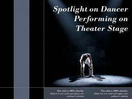 Spotlight On Dancer Performing On Theater Stage